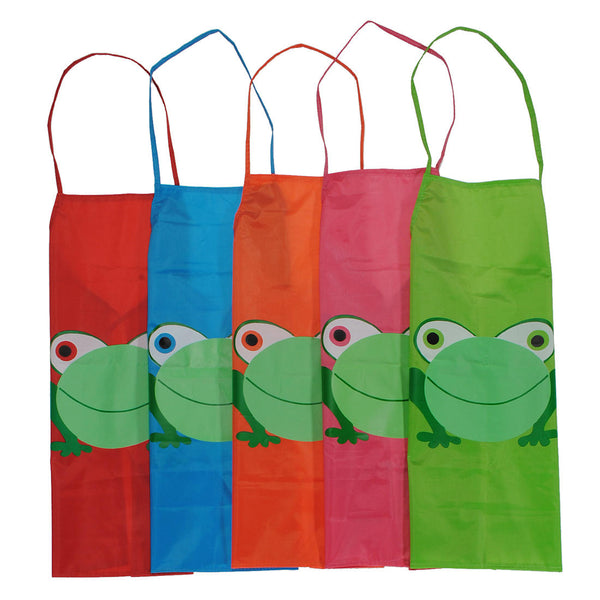 Childern Kids Cartoon Frog Printed Waterproof Costume Painting Apron - Slabiti