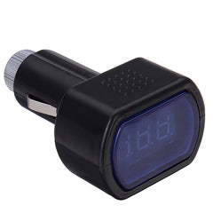 Mini Car LCD Battery Voltage Meter Monitor 12V Black - Slabiti
