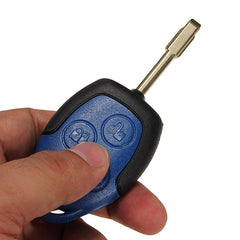 Transit Connect 3 Button Remote Key Blue Case with Uncut Blade for Ford - Slabiti