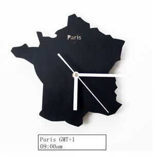 2016 French Paris Hot Sales Silent Metal Cool Living Room Clock Map Of The World Watch - Slabiti