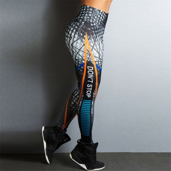 2018 Ins Same Style Women Fitness Leggings Skinny High Waist Elastic Push Up Legging Workout Sexy Long Pants - Slabiti