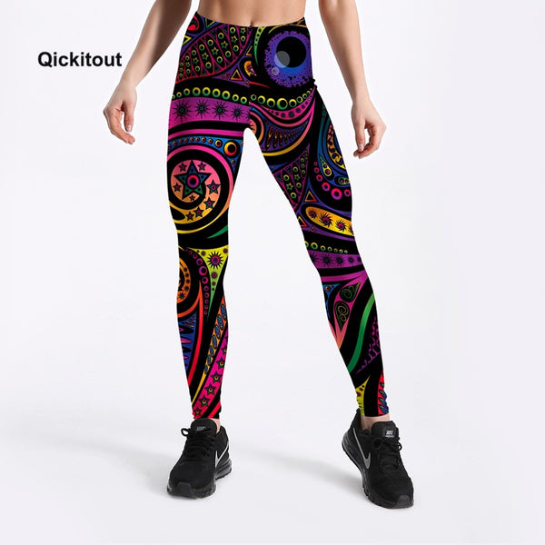 2018 New Arrival  Printed Leggings Women Fashion Summer Pants Workout Casual High Waist Plus Size Trousers S-XXXXL - Slabiti