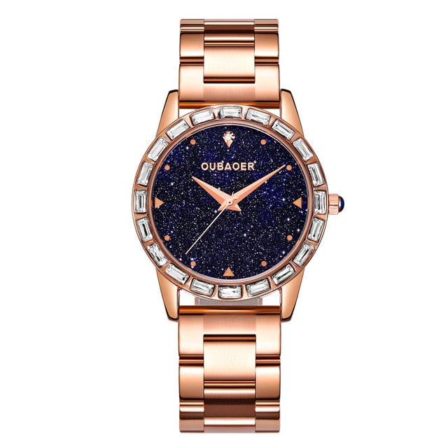 2018 OUBAOER Luxury Brand Fashion Women Watch Stainless Steel Gold Ladies Wrist Watches Uniqe Geneva Hodinky Clock Reloj Mujer - Slabiti