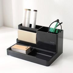 2018Plastic High-grade multifunctional Desk Stationery Organizer Storage Box Pen Pencil Box Jewelry Makeup Holder Case Organizer - Slabiti