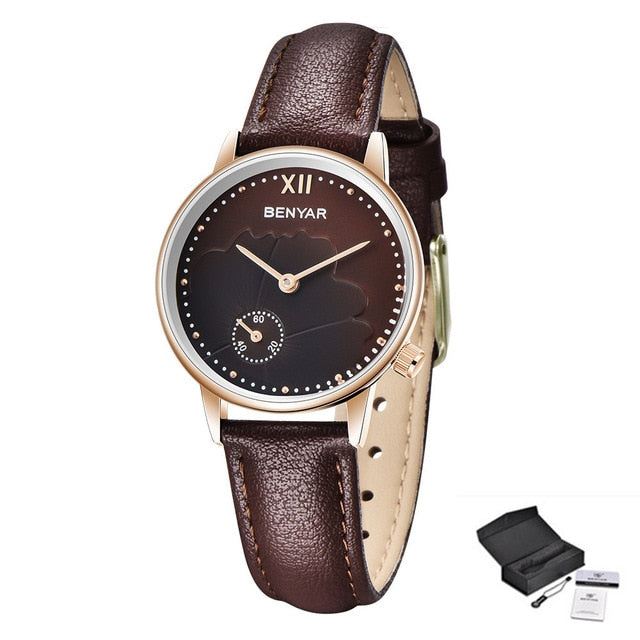 2019 BENYAR Women Watches Top Brand Luxury Quartz Watch Fashion Casual Lady Wristwatch Ladies Gold Waterproof Watche Reloj Mujer - Slabiti