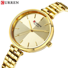 2019 CURREN Creative Design Watch Women Quartz Watches Fashion Dress Stainless Steel Band Wristwatch Ladies Clock Montre Femme - Slabiti