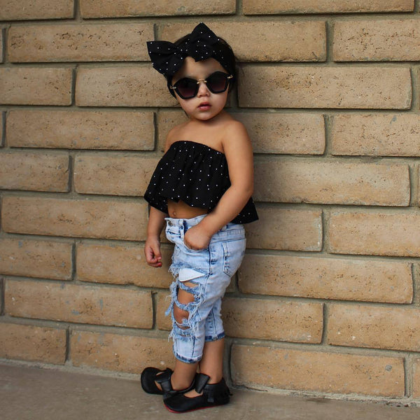 2019 Children Jeans For Girls Big Hole Cotton Jeans Baby Girls Cowboy Trousers Fashion Kids Light Pants For Boys And Girls Jeans - Slabiti
