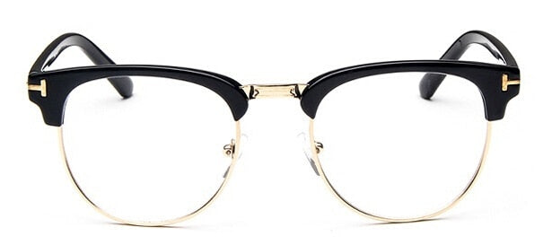 2019 Half Metal Women Glasses Frame Men Eyeglasses Frame Vintage SquareClear Glasses Optical Spectacle Frame Spectacles - Slabiti