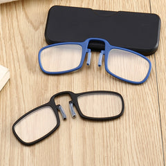 2019 NEW Design Clip Reading Glasses Men Women Mini Ultralight SOS Wallet Older Optics With Box Oculos De Grau Folding Glasse - Slabiti
