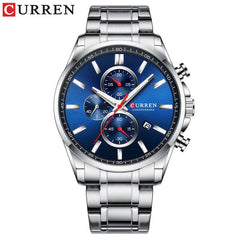 2019 New CURREN Top Brand Luxury Men's Watches Auto Date Clock Male Sports Steel Watch Men Quartz Wristwatch Relogio Masculino - Slabiti
