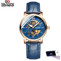 2019 New HAIQIN Men's Mechanical watches for women luxury automatic watch women fashion simple ladies watch relogio feminino - Slabiti
