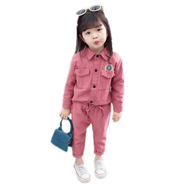 2019 New Spring Baby Casual Tracksuit Children Girls Cotton Jacket Pants 2Pcs/Sets Kids   Suit Infant Clothing For 0-4 Year - Slabiti