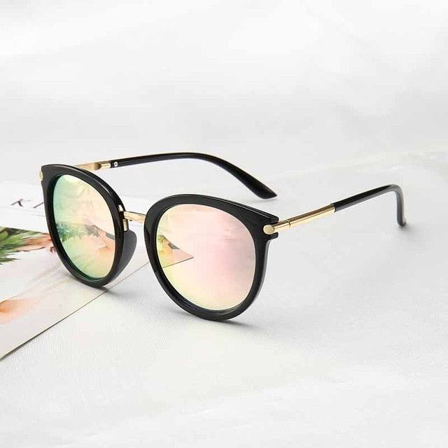 2019 New Sunglasses Women Driving Mirrors vintage For Women Reflective flat lens Sun Glasses Female oculos UV400 - Slabiti