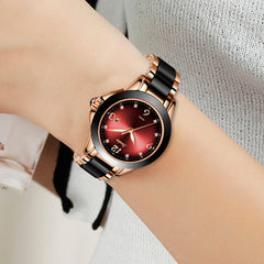 2019 SUNKTA Brand Fashion Watch Women Luxury Ceramic And Alloy Bracelet Analog Wristwatch Relogio Feminino Montre Relogio Clock - Slabiti