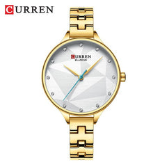 2019 Women Fashion Watch CURREN Luxury Quartz Watches Women Casual Simple Ladies Clock Female Wristwatch Stainless Steel Watch - Slabiti