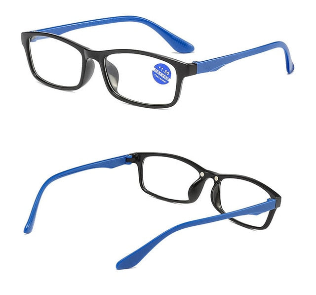 2020 Reading Glasses Men Anti Blue Rays Presbyopia Eyeglasses Antifatigue Computer Eyewear with +1.5 +2.0 +2.5 +3.0 +3.5 +4.0 - Slabiti