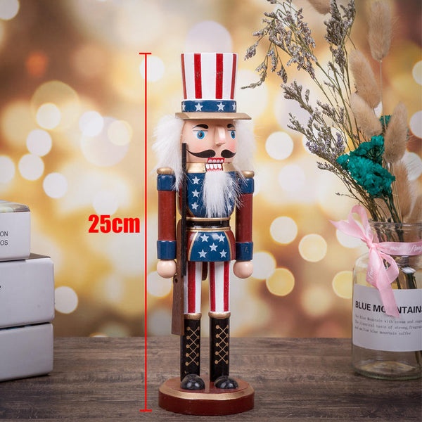 Wooden Nutcracker Soldier Vintage Handcraft Puppet Doll Christmas Xmas Gift Toys