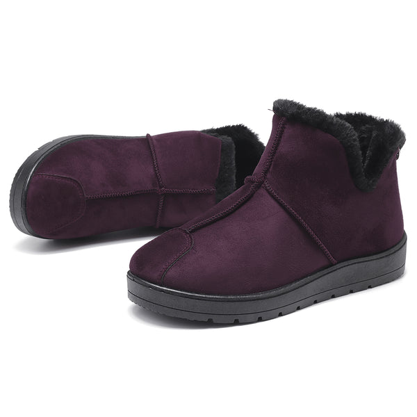Winter Shoes Stitching Warm Lining Suede Ankle Boots