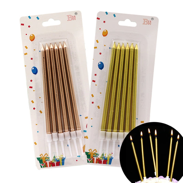 25-100box Colored Birthday Candles For Cake Party Festival Supplies Lovely Birthday Candles for Kitchen Baking Gifts Decorations