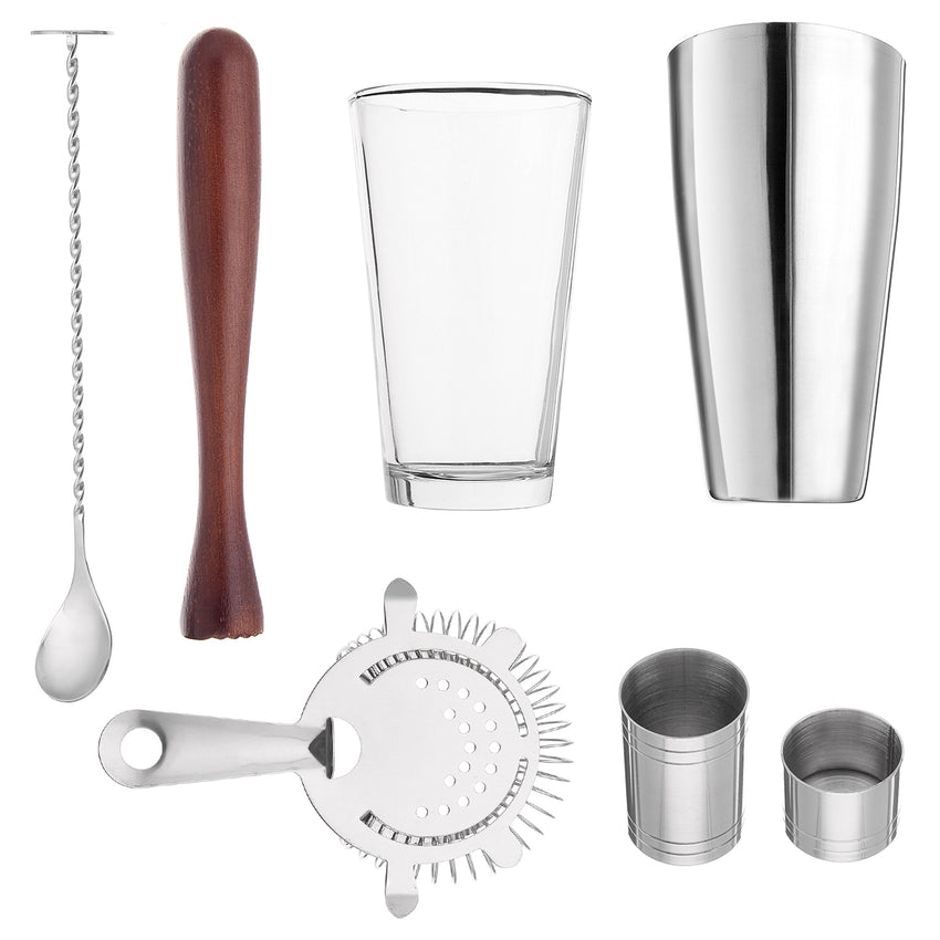 7Pcs 800mL Stainless Steel Cocktail Shaker Mixer Bartender Martini Tools Kit - Slabiti