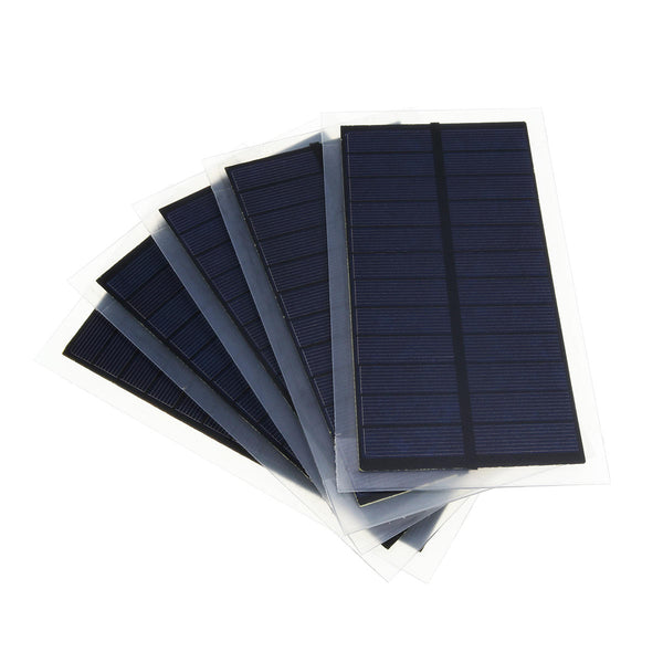5Pcss/Pack 6v 2w 102*184mm Mini Polycrystalline Solar Panel Plate for Battery Charger