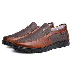Large Size Men Casual Lightweight Comfy Slip On Oxfords - Slabiti