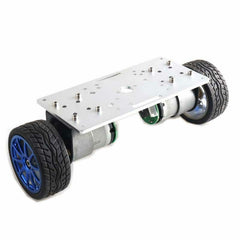 2WD Balance Car Chassis Smart Robot Car Kit Silver Panel/65mm Wheel/37-520 Motor with Code Wheel - Slabiti