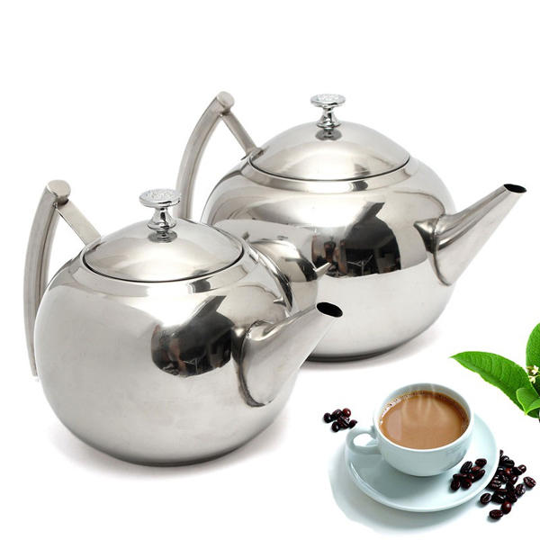 1500ML/2000ML Stainless Steel Teapot Coffee Maker Pot - Slabiti