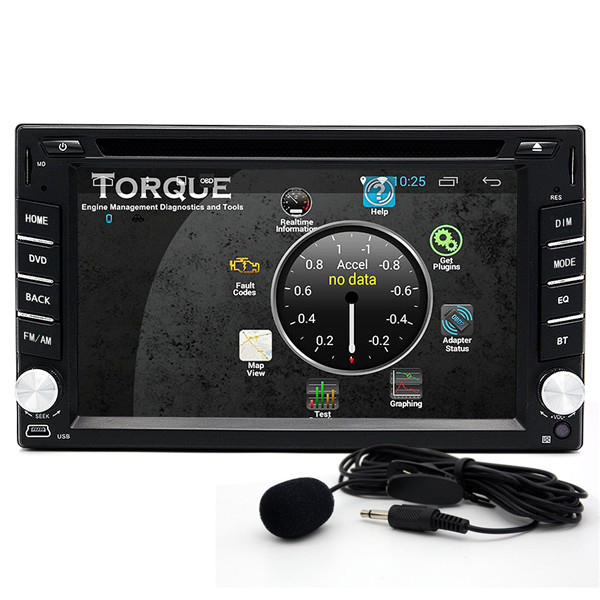 Junsun 2 din bluetooth Wifi HD Stereo Car DVD Player 3D GPS Navigator Touch Screen Free Map Update - Slabiti