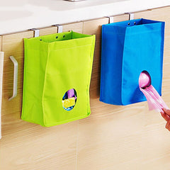2PCS Oxford Hanging Bag For Organzier Kitchen Cabinets Door Back Garbage Bags Storage Pockets Debris Finishing Storage Box - Slabiti