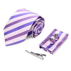 Mens Business Arrow Tie Sets Tie Clips Cufflinks Kerchief Gift Series - Slabiti