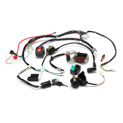 50cc 70cc 90cc 110cc 125cc ATV Ignition Coil Electric Complete Wiring Harness Assembly - Slabiti