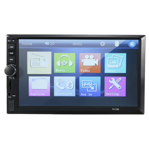 7012B 7 Inch Double DIN Car MP5 Player Radio Stereo bluetooth MP4 FM Touch Screen Support Rear Camera - Slabiti
