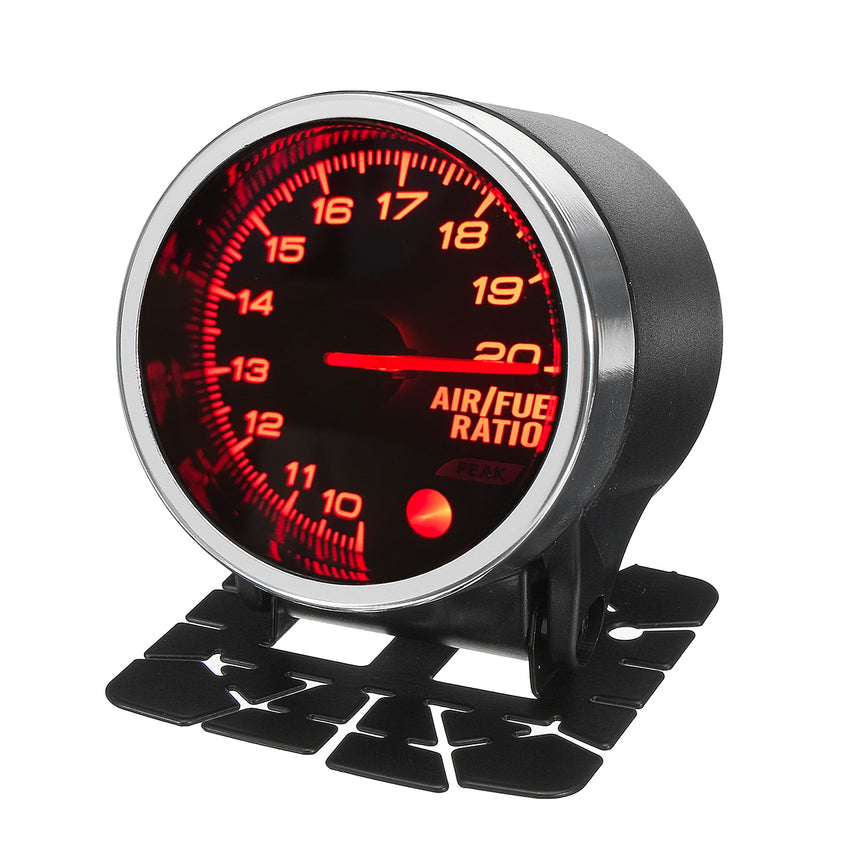 2  52mm LED Display Air Fuel Ratio Gauge AFR Racing Meter Kit 10 Colors 12V - Slabiti