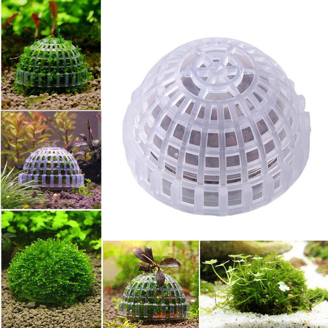 Mineral Stone Suspended Float Bio Moss Ball For Aquarium Decorations Crystal Plant Cultivation House - Slabiti