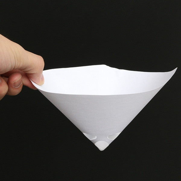 50pcs 100 Mesh Paper Paint Strainer Nylon Full Flow Conical Cone Filter Funnel - Slabiti
