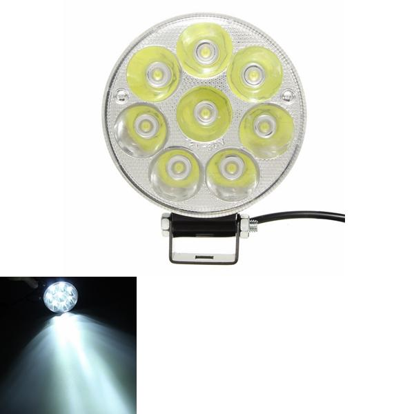 12V 21W 6000K Motorcycle Super Bright Spot Lightt LED Headlight Round High Power Projection Lamp - Slabiti