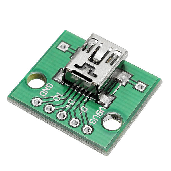 USB To DIP Female Head Mini-5P Patch To DIP 2.54mm Adapter Board - Slabiti