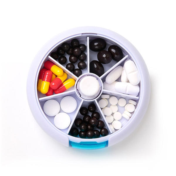Honana HN-P1 Travel 7 Compartment Pill Box Medicine Rotation Holder Organizer Container Case - Slabiti