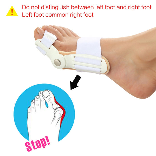 2pc Foot Care Bunion Splint Big Toe Straightener Corrector Pain Relief Hallux Valgus Correction Orthopedic Supplies Pedicure - Slabiti
