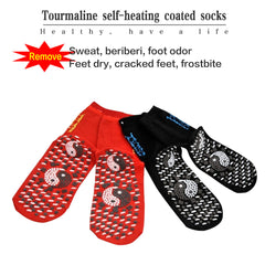 2pcs Magnetic Socks Therapy Comfortable Self-Heating Health Care Socks Tourmaline Breathable Massager Winter Warm Foot Care Sock - Slabiti