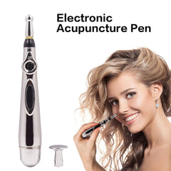 3 in 1 Multi-function Body Face Electric Acupuncture Magnet Therapy Heal Massage Pen Meridian Energy Pen Relief Pain Health care - Slabiti