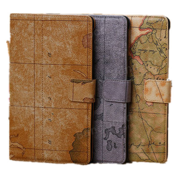 World Map PU Leather Wallet Case For Google Nexus 7 2nd Gen - Slabiti