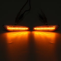 LED Side Marker Lights Turn Signal Lamp Amber Pair For BMW E82 E88 E60 E61 E90 E91 E92 E46 - Slabiti