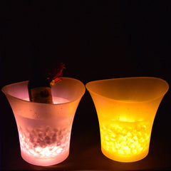 7 Colors LED Light Ice Bucket Champagne Wine Drinks Beer Ice Cooler Bar Party 5L - Slabiti