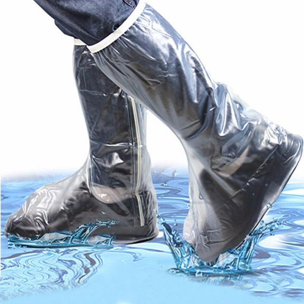 Men Women Rain Shoes Cover Waterproof High Boots Flats Slip Resistant Overshoes Rain Gear - Slabiti