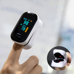 BOXYM oFit-2 Finger-Clamp Pulse Oximeter Medical Finger Blood Oxygen Saturometro Heart De Oximeter Portable Pulse Oximetro Monitor - Slabiti