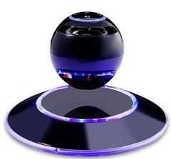 Floating blue wireless Bluetooth audio suspended subwoofer - Slabiti