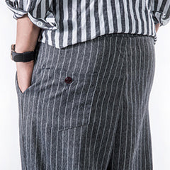 Mens Cotton Breathable Striped Printed Loose Fit Casual Harem Pants - Slabiti