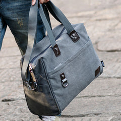 Men Canvas Large Capacity Handbag Shoulder Bag Messenger Bag - Slabiti
